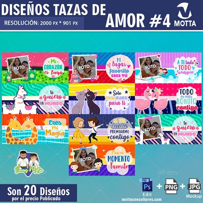 PLANTILLAS PARA SUBLIMAR TAZAS AMOR Y PAREJAS #4