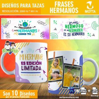 PLANTILLAS PARA TAZAS CON FRASES DE HERMANOS