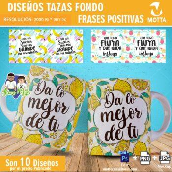 FONDOS DE FRUTAS PARA SUBLIMAR TAZAS