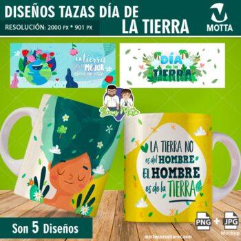 PLANTILLAS PARA TAZAS GRATIS DIA DE LA TIERRA