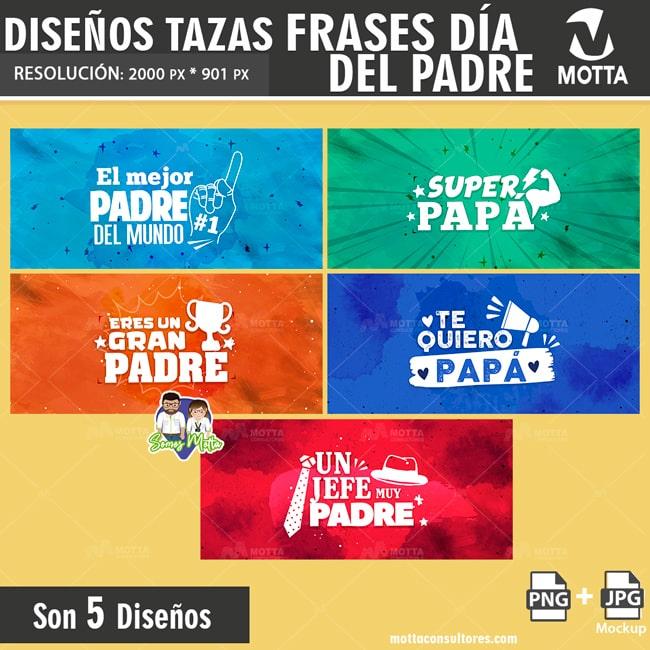 PLANTILLAS PARA TAZAS GRATIS FRASES DIA DEL PADRE