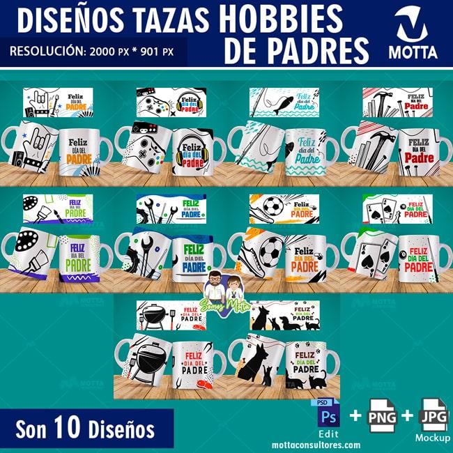 PLANTILLAS PARA TAZAS HOBBIES DE LOS PADRES
