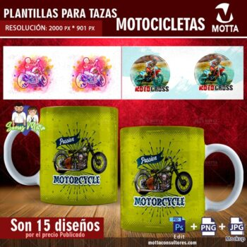 PLANTILLAS PARA SUBLIMAR TAZAS DE MOTOCICLETAS
