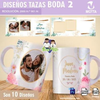 DISEÑOS DE TAZAS PARA BODAS Y MATRIMONIOS