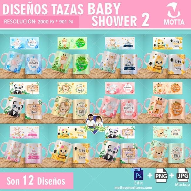 DISEÑOS DE TAZAS PARA BABYSHOWER DE ANIMALITOS